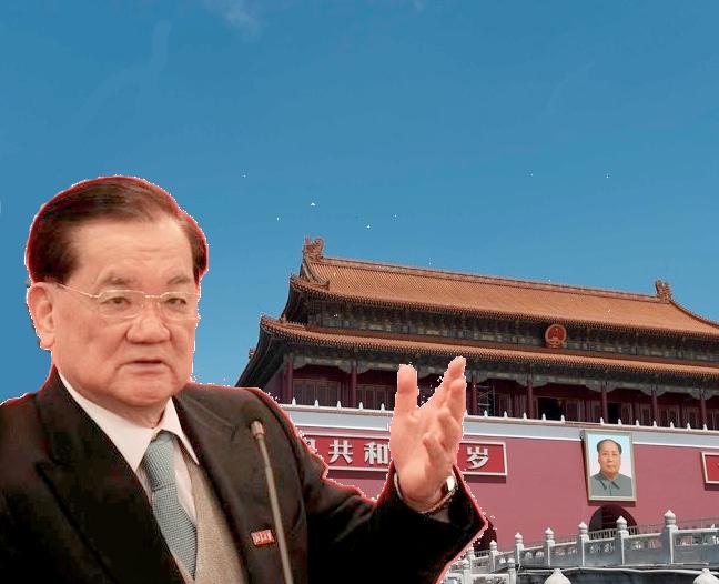 台灣前副總統連戰將出席中共9月3日的二戰勝利70周年閱兵。網絡公共領域衍生圖片。